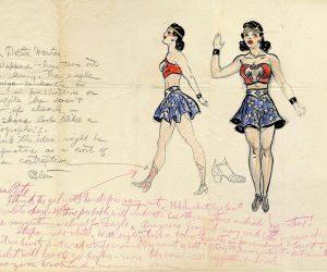 El primer boceto de Wonder Woman