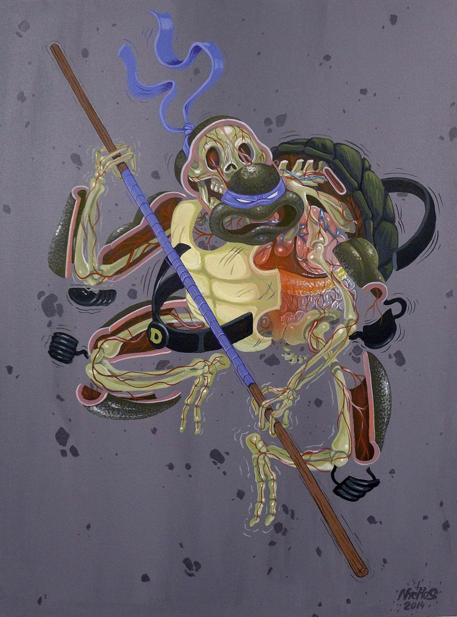 cartoon-character-animal-dissection-street-art-nychos-4