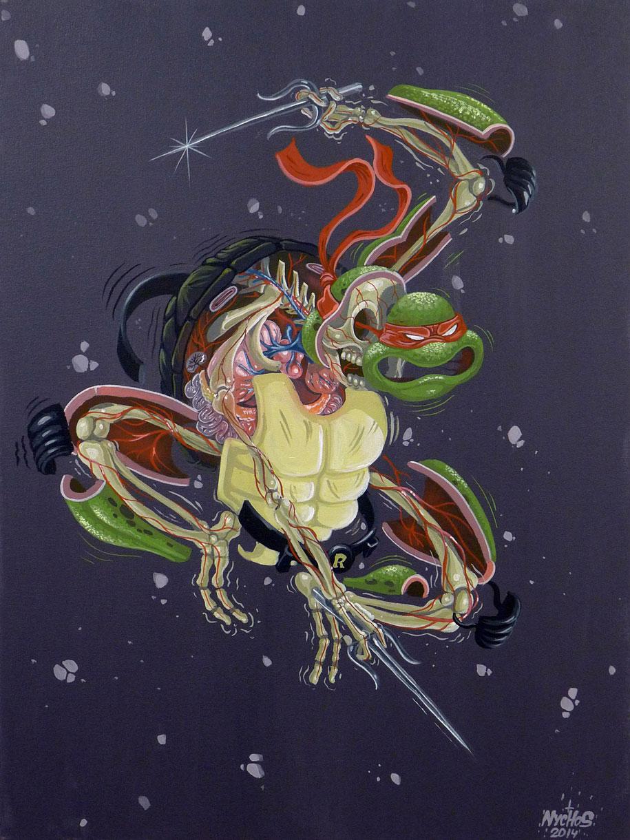 cartoon-character-animal-dissection-street-art-nychos-6