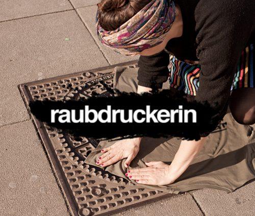 Grabado textil urbano, el trabajo de Raubdruckerin,