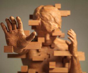 Las esculturas pixeladas de Hsu Tung Han