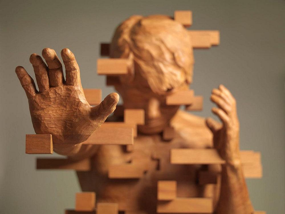 En este momento estás viendo Las esculturas pixeladas de Hsu Tung Han