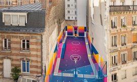 Una cancha de baloncesto que te dejará loco